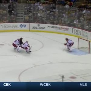 Mike Smith Save on Brandon Sutter (08:35/1st)