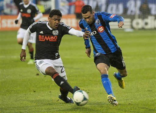 Di Vaio nets 3 goals to lead Impact over Union 5-3