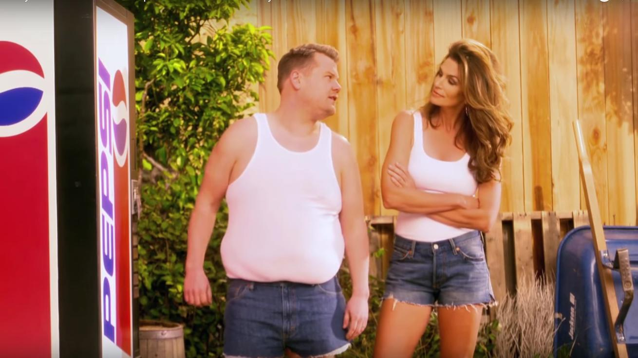 James Corden Parodied Cindy Crawford's Pepsi Commercial