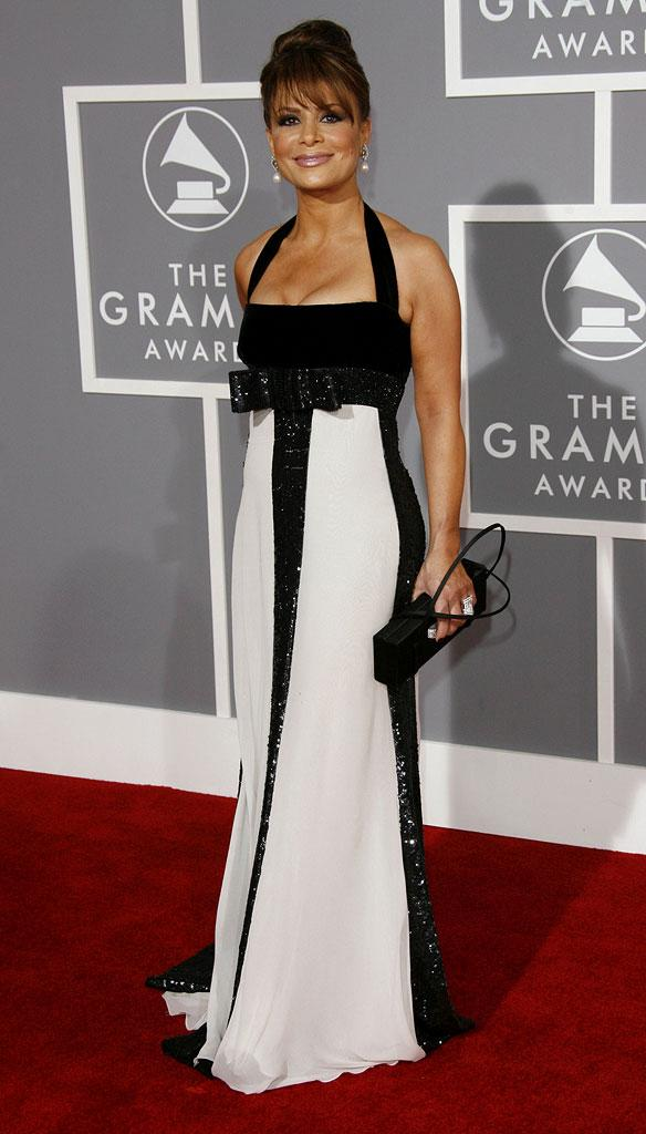 Paula Abdul at The 49th Annual Grammy Awards.