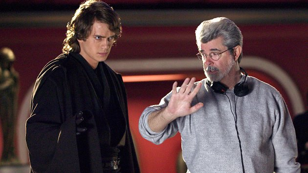 Hayden Christensen and George Lucas