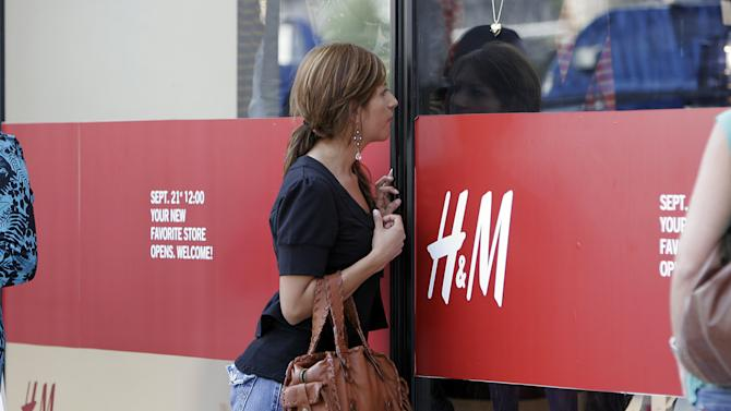 The first H&M store in Southern California, before the store's grand opening in Pasadena