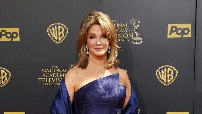 Actress Deidre Hall arrives at the 42nd Annual Daytime Emmy Awards in Burbank
