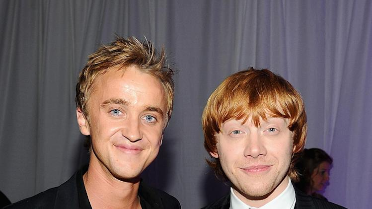 Harry Potter and the Deathly Hallows pt 1 NYC premiere 2010 Rupert Grint Tom Felton