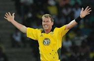 Australian cricketer Brett Lee celebrates after dismissing Sri Lankan cricket captain Tillakaratne Dilshan during a Twenty20 match at The Pallekele International Cricket Stadium, in 2011. Lee on Friday announced his retirement from international cricket