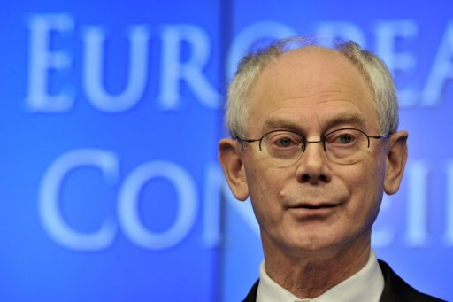 <p>EU President Herman Van Rompuy argued Friday that the 17-state eurozone could have a central 'Treasury' with a shared budget and raise funds on commercial bond markets.</p>