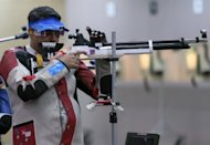 India's Gagan Narang competes in the 10m air rifle men qualifying round at the Royal Artillery Barracks during the London 2012 Olympic Games. India are looking for better days ahead at the Olympics after Narang picked up the country's first medal, a bronze, at the London Games