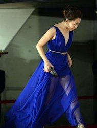South Korean actress Moon Geun-young arrives for the opening ceremony of the Busan International film festival (BIFF). She was among a glittering line-up of Asian cinema stars converging on the South Korean city for the region&#39;s premier international film festival
