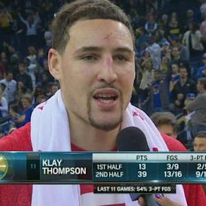 Postgame: Klay Thompson On-Court
