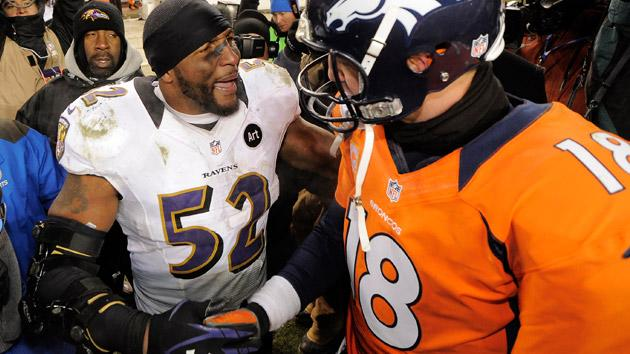 Ray Lewis and Peyton Manning