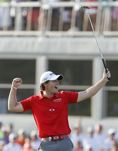 McIlroy back at top with record-setting win at PGA