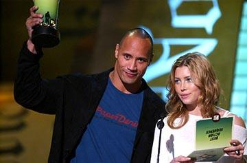 "Dwayne ""The Rock"" Johnson and Jessica Biel MTV Movie Awards - 6/5/2004"