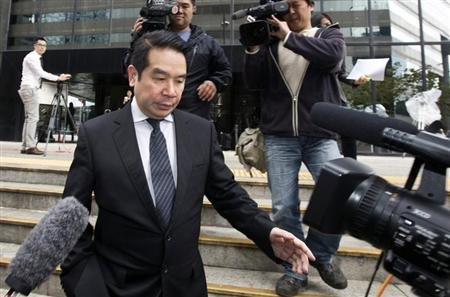 Birmingham City football club owner Carson Yeung Ka Sing leaves the district court in Hong Kong