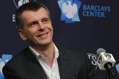 Mikhail Prokhorov close to deal to buy rest of Nets, Barclays Center