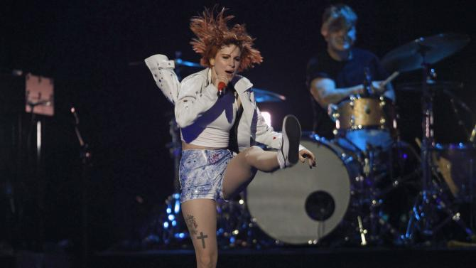 Williams performs during the 2014 iHeartRadio Music Festival in Las Vegas