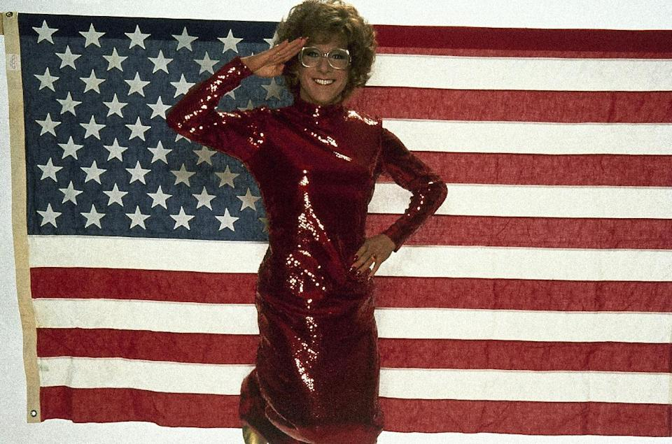 "This undated publicity photo shows actor Dustin Hoffman as Dorothy Michaels in the 1982 Columbia Pictures' film, ""Tootsie."" (AP Photo)"