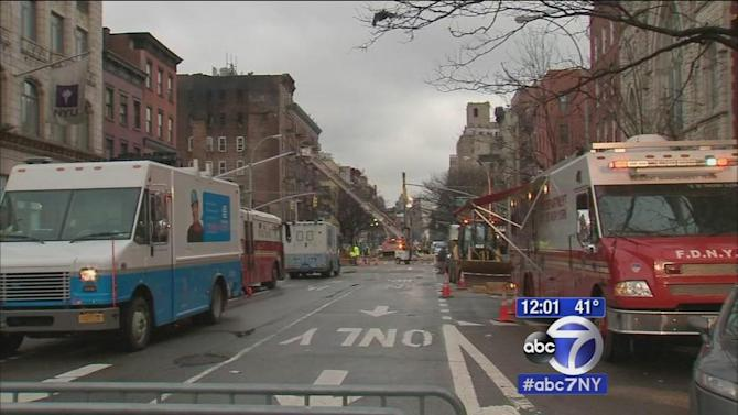 Firefighters still at East Village explosion that injured 22