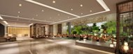 The lobby of the new Hualuxe hotel brand, from InterContinental