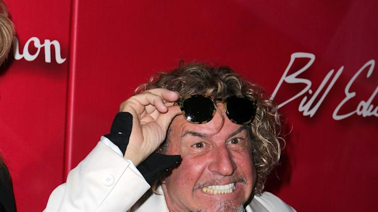 "Recording artist Sammy Hagar arrives at the Keep Memory Alive 16th Annual ""Power of Love Gala"" honoring Muhammad Ali with his 70th birthday celebration on Saturday, Feb. 18, 2012, in Las Vegas. (AP Photo/Jeff Bottari)"