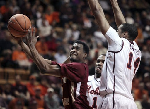 Virginia Tech edges Boston College 66-65