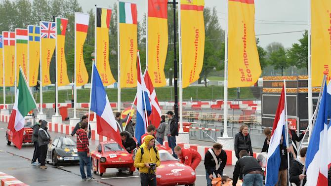 IMAGE DISTRIBUTED FOR SHELL - General View of the Opening Ceremony of the Shell Eco-marathon Challenge Europe at The Ahoy centre in Rotterdam, The Netherlands on Friday, May 17, 2013. Teams from universities all over Europe have brought their energy efficient cars to compete through the three-day challenge. (Ermindo Armino/AP Images for Shell)