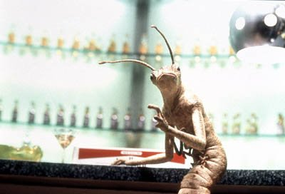 An alien critter in Columbia's Men in Black II