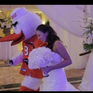 Why Mascot Waddles Bride Down the Aisle