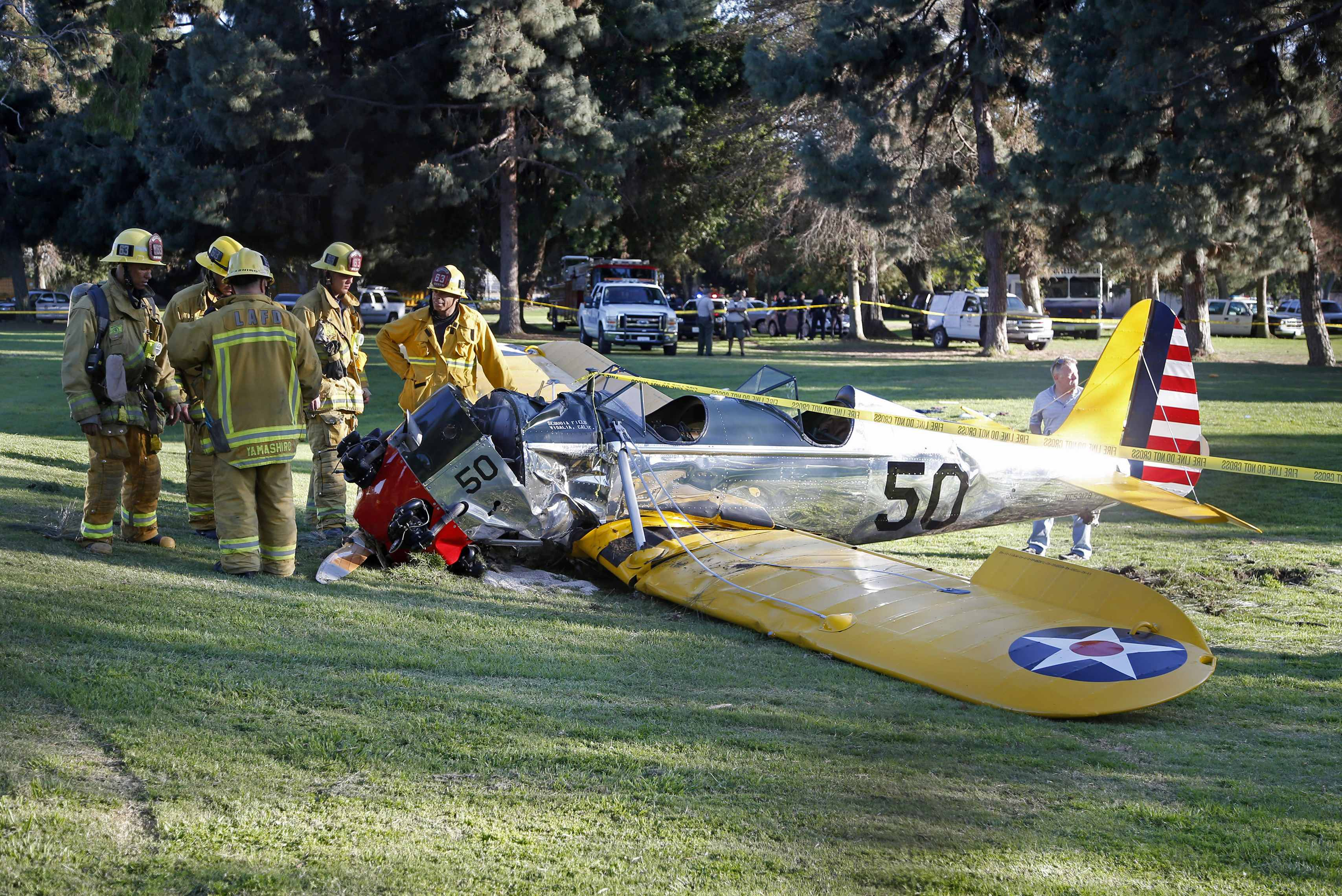 Actor Harrison Ford injured in California plane crash