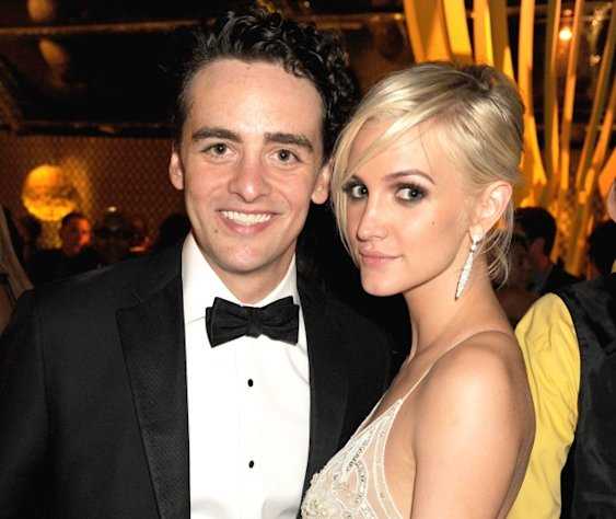 Vincent Piazza and Ashlee Simpson attend HBO&#39;s Official Emmy After Party at The Plaza at the Pacific Design Center in Los Angeles on September 23, 2012  -- Getty Premium