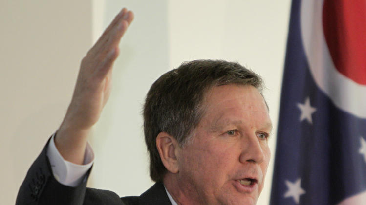 Ohio governor takes state budget plan on the road