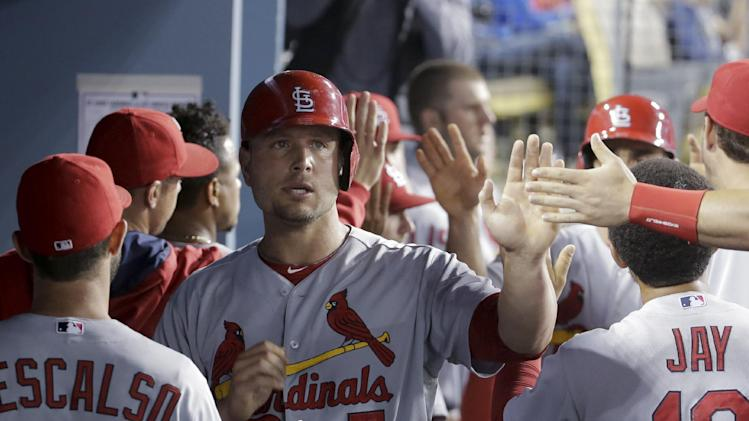 Peralta's 2-run double helps Cards beat Dodgers