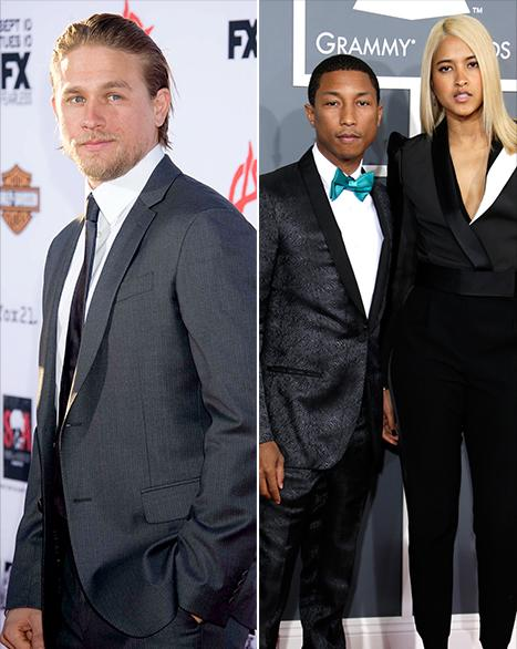 Charlie Hunnam Drops Out of Fifty Shades of Grey, Pharrell Williams Marries Helen Lasichanh: Top 5 Weekend Stories