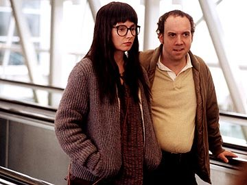 Hope Davis as Joyce Pekar and Paul Giamatti as Harvey Pekar in Fine Line's American Splendor
