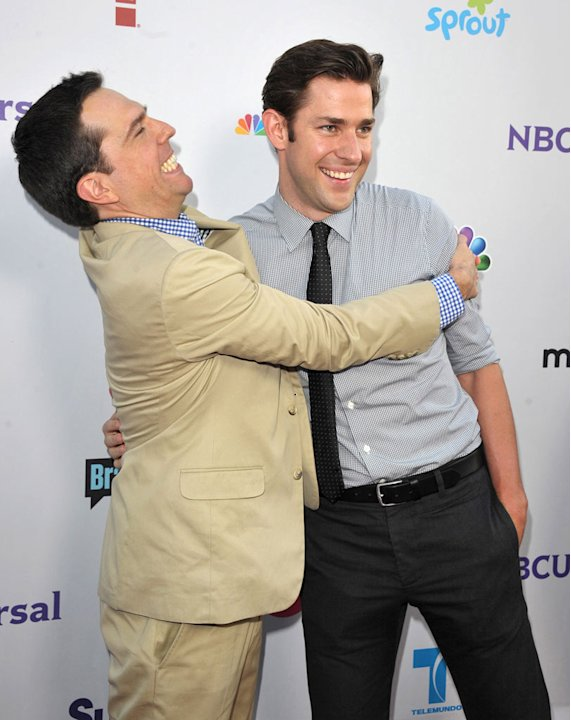 "Ed Helms and John Krasinski of ""The Office"" attends the NBC Universal Summer TCA 2011 All-Star Party at the SLS Hotel on August 1, 2011 in Los Angeles, California."
