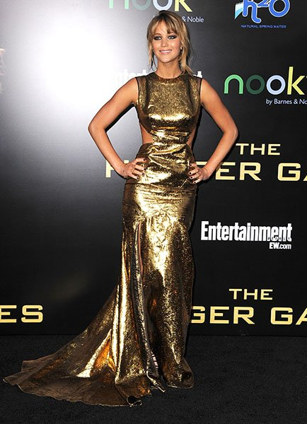 "At the LA premiere of ""The Hunger Games"""