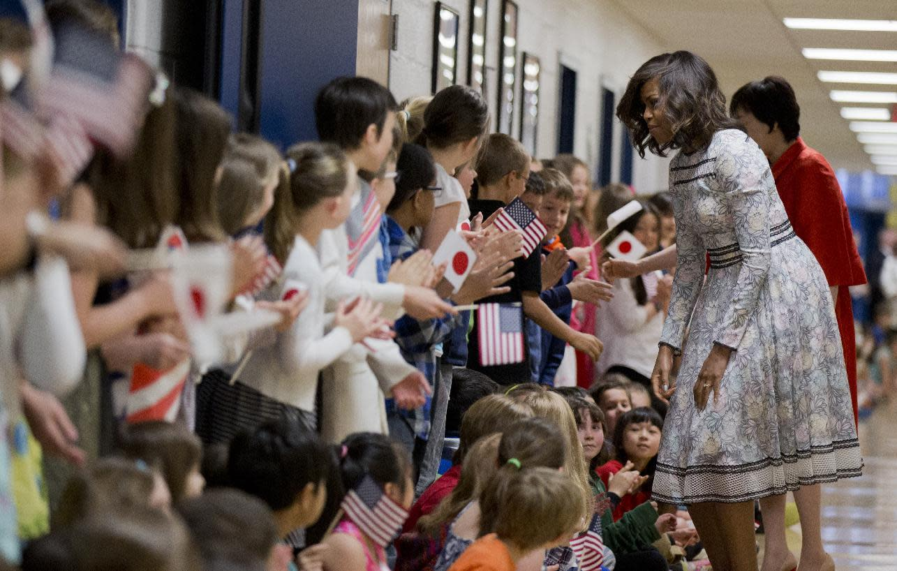 Michelle Obama promotes student foreign exchanges