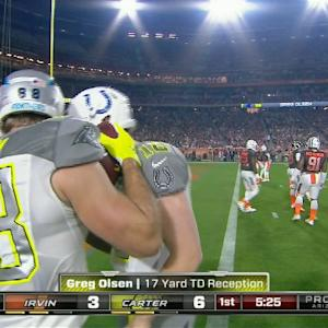Carolina Panthers tight end Greg Olsen snags 17-yard TD from Indianapolis Colts quarterback Andrew Luck