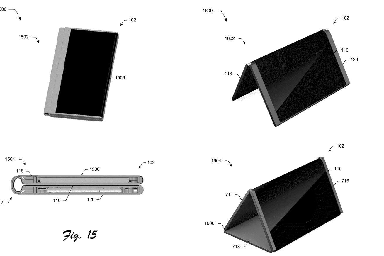 Microsoft patent reveals foldable phone that turns into a tablet