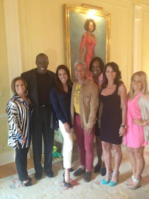 Olympic Gymnasts Overshadowed by Massive Olympic Oprah Portrait
