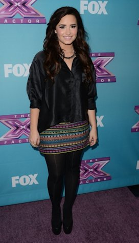 Demi Lovato attends Fox&#39;s &#39;The X Factor&#39; season finale news conference at CBS Televison City on December 17, 2012 in Los Angeles -- Getty Images