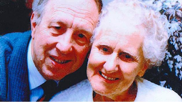 Frank Worsley (left) - with his wife Mary - who died after being beaten and robbed in his own home in Bolton.