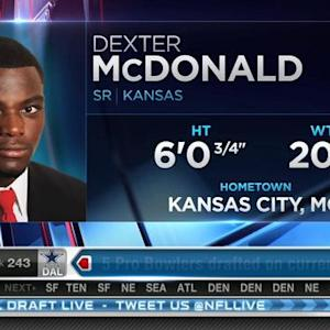 Oakland Raiders pick cornerback Dexter McDonald No. 242 in 2015 NFL Draft
