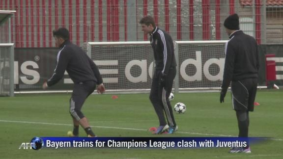 Bayern train ahead of Champions League clash against Juventus