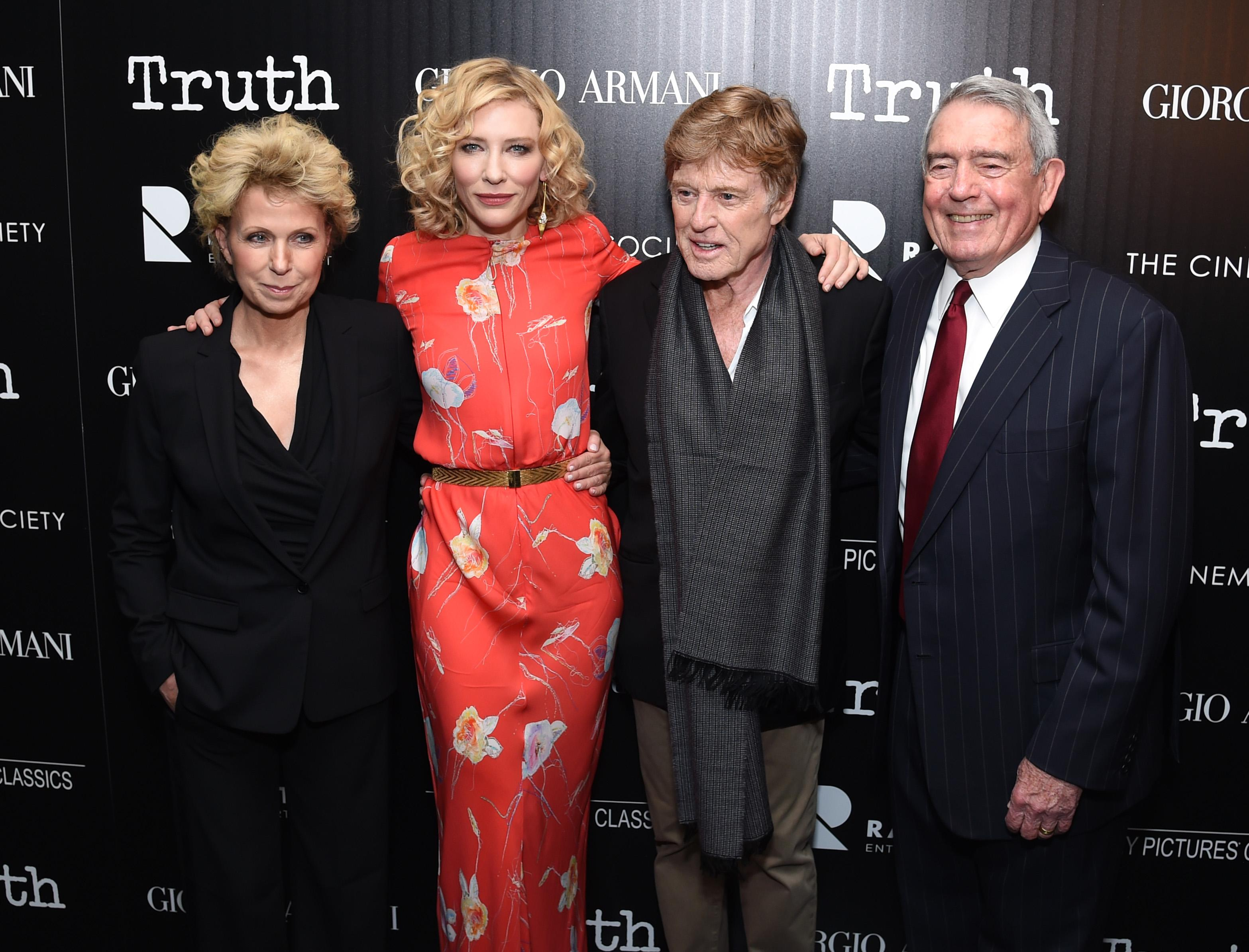 Mary Mapes, Dan Rather Join Stars Cate Blanchett, Robert Redford at 'Truth' Screening
