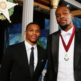Kevin Durant nominates Russell Westbrook for Oklahoma Hall of Fame in induction speech