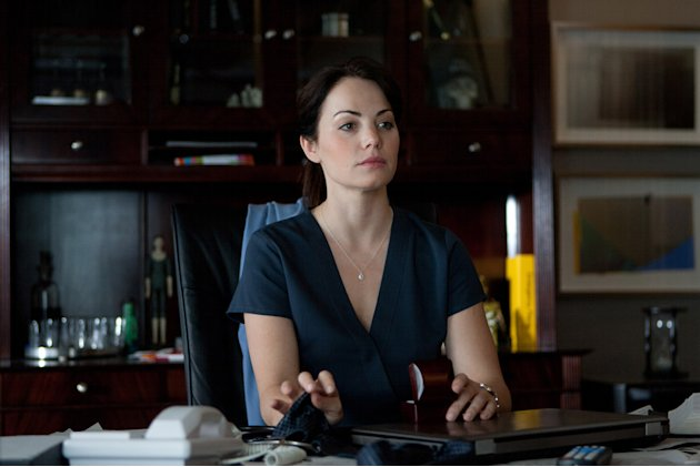 "Erica Durance stars as Dr. Alex Reid in ""Saving Hope."""