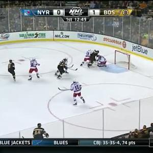 Henrik Lundqvist Save on Gregory Campbell (07:14/1st)