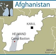 Map showing Camp Bastion in Afghanistan. Taliban armed with suicide vests, guns and rockets stormed a heavily fortified airfield in Afghanistan where Prince Harry is deployed, killing two US Marines and attacking aircraft in a major security breach