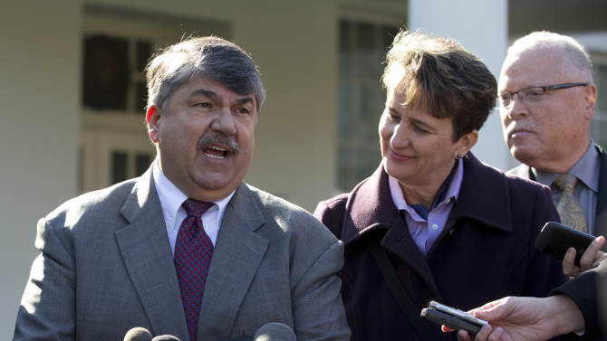 Labor heads say Obama backs them on 'fiscal cliff'