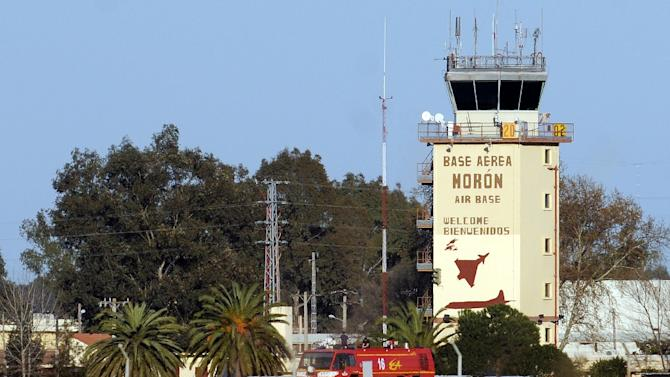 General view of the Moron de la Frontera air base in Spain, on March 18, 2011